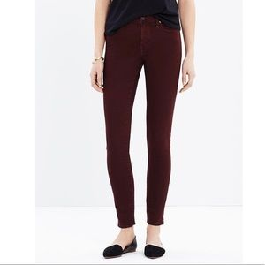 """Madewell 9"""" High-Rise Skinny Jeans: Garment Dyed"""